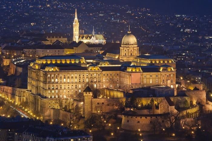 Royal Palace by night, Budapest